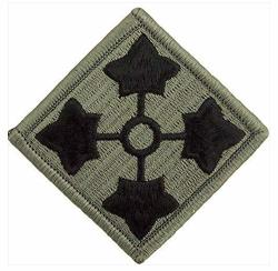 Vanguard Army Patch: Fourth Infantry Division - Embroidered On Acu