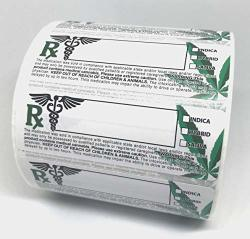 Generic Medical Rx Leaf Labels 3X1 Inches 1000 Stickers Per Roll Universal Compliant Identification Adhesive Labels