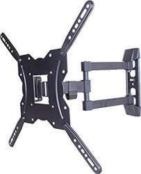 """Onn 63607253 Ultra Slim Full-motion 23""""-55"""" Tv Mount Black W built-in-level"""