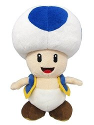 Little Buddy Super Mario All Star Collection 1588 Blue Toad Stuffed Plush 7