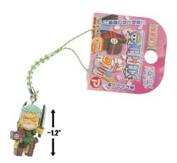 """Zoro On Miharu-goma: 1.2"""" Fukujima Exclusive Micro-figure Charm"""