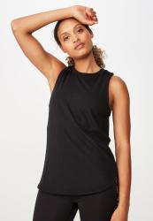 Cotton On Active Curve Hem Tank - Black