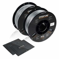 Overture Petg Filament 1.75MM With 3D Build Surface 200MM 200MM 2KG Pla Multipack 2.2LBS Spool Dimensional Accuracy + - 0.05 Mm Fit Most Fdm