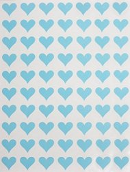Royal Green Decorative Sticker Heart Permanent Labels 13MM 1 2 - Stickers For Kids Art & Craft Projects Gift Wrappings Hearts Shaped Label In Light Blue