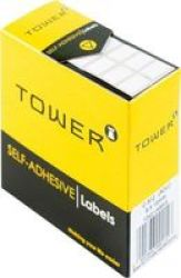 TOWER Label Roll 8X12MM Box Of 1260 White