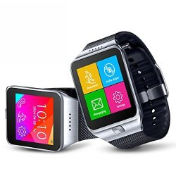InDigi 2- In -1 GSM Micro Sim Card Bluetooth Sync Smartwatch Phone Capacitive Color Touch Screen