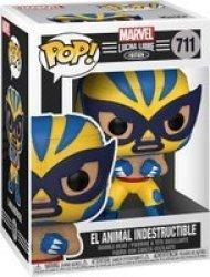 Pop Marvel Lucha Libre Edition: El Animal Indestructible Figure