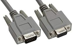 Amphenol CS-DSDHD15MF0-010 15-PIN HD15 Deluxe D-sub Cable Shielded Male female 10' Gray