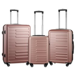 TRAVELWIZE - Celebrate Abs 3 PC Luggage - Rose Gold