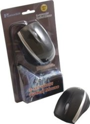 Premiumsun Black And Silver PS 2 Optical Mouse
