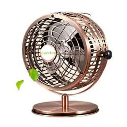 Lucstar Retro USB Fans Personal Vintage Table Desk Art Decoration For Office Home Bedroom Business Gift Quiet Design 6INCH