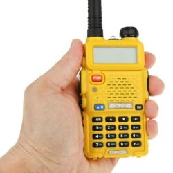 Silulo Online Store Baofeng UV-5R Professional Dual Band Transceiver Fm Two Way Radio Walkie Talkie Transmitter Yellow - Yellow