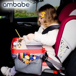Ambabe Travel Tray Car Seat Children Activity Stroller For Girls And Boys Organizer Lap Table Tod