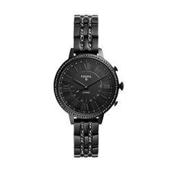 Fossil Women's Jacqueline Stainless Steel Hybrid Smartwatch Color: Black Model: FTW5037