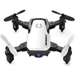 SIMREX X300C MINI Drone With Camera Wifi HD Fpv Foldable Rc Quadcopter Rtf 4CH 2.4GHZ Remote Control Headless Altitude Hold Supe