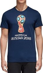 SLD Of The Adidas Group Adidas World Cup Soccer World Cup Emblem Men's Tee XL Blue