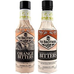Fee BrOthers Limited Run Bitters 2 Pack - Gin Barrel-aged Orange & Whiskey Barrel-aged Aromatic Bitters - 5 Oz