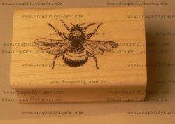 Dragonflylaser P23 Bumble Bee Rubber Stamp Wm