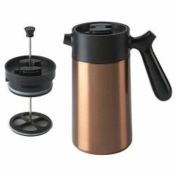 Casaware Stainless Steel 32-OUNCE Thermal French Press Coffee And Tea Maker Copper