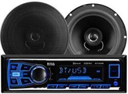 "Boss Audio 638BCK Car Stereo Package - Single Din Bluetooth No Cd dvd MP3 USB WMA Am fm Radio 6.5"" 2 Way Full Range Speakers"