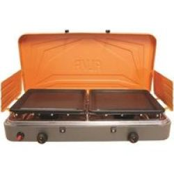Alva 2 Burner Gas Stove with Solid Plates