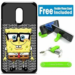 Limited Editions For LG Stylo 3 Stylo 3 Plus LS777 Defender Rugged Hard Cover Case - Spongebob Nerd G
