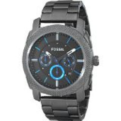 Discountwatches_SA Fossil Men's Fs4931 Machine Gunmetal-tone Stainless Steel Bracelet Watch Parallel Import