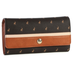 Polo Heritage Trifold Purse Brown - Brown