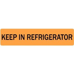 "LabelValue.com Keep In Refrigerator Veterinary Labels - .375""X 1.625"" 500 Labels Per Roll"