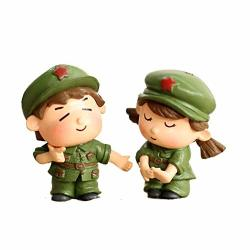 Snfqdr Collectible Sculpture Statue Figurines Decoration Doll Crafts Boy Girl Home Decor Sweety Lovers Couple Chair Miniatures Terrariums Fairy Garden Moss Children Toy Resin