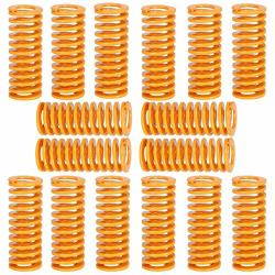 Extruder Strong Spring 8MM Od 25MM In Length 4MM Id Hot Bed Glass Platform Leveling Spring 3D Printer Accessories SPRING-16 Pcs Yellow