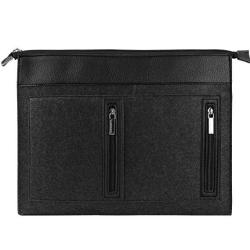 """Vangoddy 17 Inch Exo Woolen Felt Slim Compact Laptop Carrying Sleeve Black Trim For Dell Inspiron 15 7000 15.6"""" Alcatel Tcl Xess 17.3"""" Tablet Lapt"""