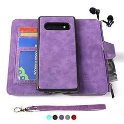 Modos Logicos Samsung Galaxy S9 Case Detachable Wallet Folio 2 In 1 Zipper Cash Storage Up To 14 Card Slots 1 Photo Window Pu