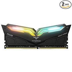Team 32GB 2 X 16GB T-force Night Hawk Rgb DDR4 PC4-24000 3000MHZ Desktop Memory Model TF1D432G3000HC16CDC01