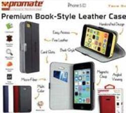 Promate Tava 5C Book-style Flip Case For iPhone 5C in Black