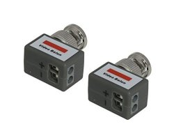 Kenuco VB202L 90 Degree Twisted Pair Screw Mount Passive Video Balun - 5 Pairs