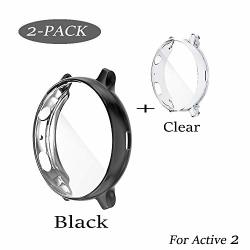 Case Compatible With Galaxy Watch Active 2 Case Soft Tpu Bumper Full Around Screen Protector Cover For Samsung Galaxy Watch Active 2 44MM 40MM