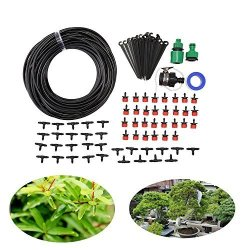 Pavlit Diy 80FT Micro Drip Irrigation System Agriculture Sprinkler Garden Plant Flower Automatic Watering Tool Kit
