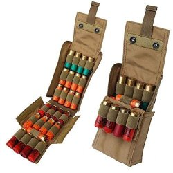 Hot Kosibate 25 Round Sgun Sshell Reload Holder Molle Pouch For 12 GAUGE 20G Tan