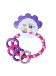 Snookums Crown Teether Rattle - Pink