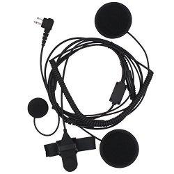 AOER 2 Pin Full Face Earpiece Headset MIC Microphone For Motorola GP2000 GP2100 GP300 CLS1450C CLS1450CB VL50 MU11CV MU12 MU12C
