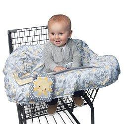 Boppy Shopping Cart Cover Sunshine gray