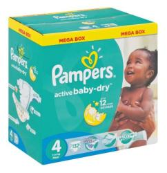 Pampers Active Baby 132 Nappies Size 4 Mega Pack Prices