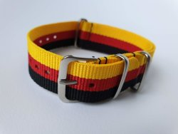 NATO 18MM Watch Strap Yellow red black