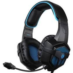 Sades Sa 807 Gaming Headphones With Microphone Black Blue