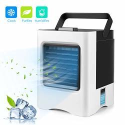 ZQ USB Desktop Personal Fan,Office//Student Dormitory Mini Silent Desktop Fan,3-Speed Portable Cooling Fan,Outdoor Travel Handheld Mirror Fan,B