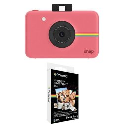 Polaroid Snap Instant Digital Camera Pink With 2X3 Inch Premium Zink Photo Paper Twin Pack 20 Sheets