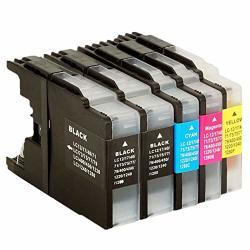 No-name Compatible Ink Cartridge Replacement For Brother Lc 12 40 71 73 75 400 1220 1240 MFCJ710DW MFCJ810DN MFCJ810DWN MFCJ825DW MFCJ840N Inkjet Printer 2 Black 1 Cyan 1 Magenta 1 Yellow