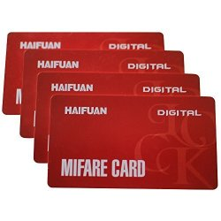 Onlese Haifuan Mifare Cards For HFAS200MF HFAS100MF HFA6300D 4PC