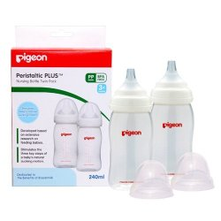 Pigeon Peristaltic Nursing Bottle 240ML Twin Pk
